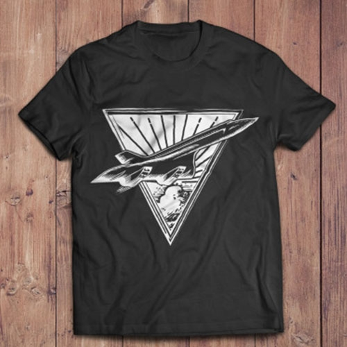 Modern Airplane Shirt Design